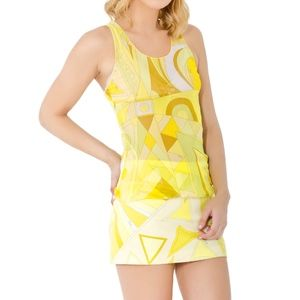 PUCCI + VINTAGE YELLOW 2 PC SKIRT TOP SMALL